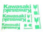 DECAL SET KAWASAKI /GREEN/